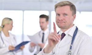 doctor saying no