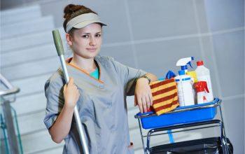 female janitress